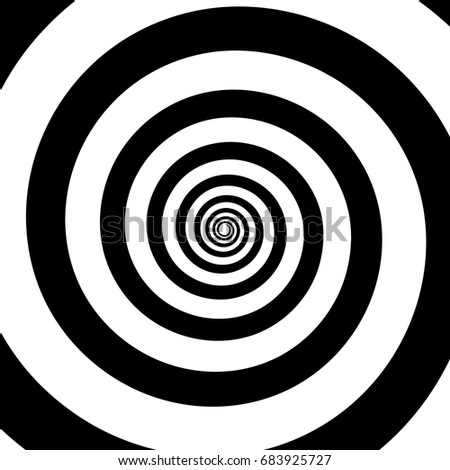 spiral color black on the white