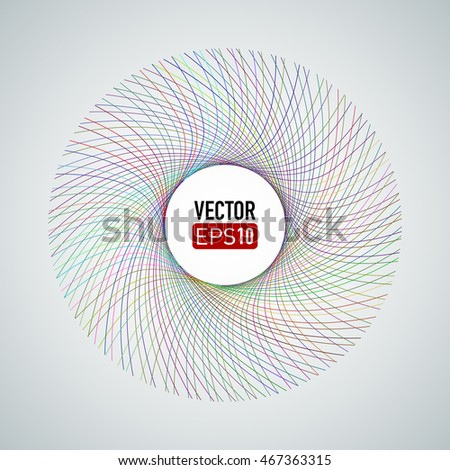 Spiral colorful lines. Designed for cover, party flyer. #467363315