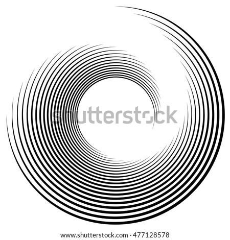 Spiral element vector illustration