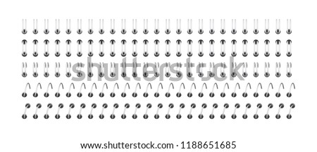 spiral for fastening sheets Vector