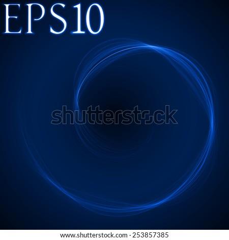 spiral formed energy waves (blue colored, soft spiral version)