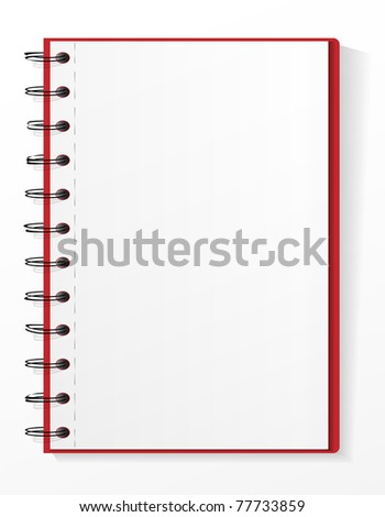 Spiral notebook  with tear leaves