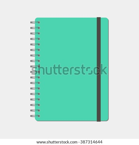 spiral notepad, notebook. Closed notebook