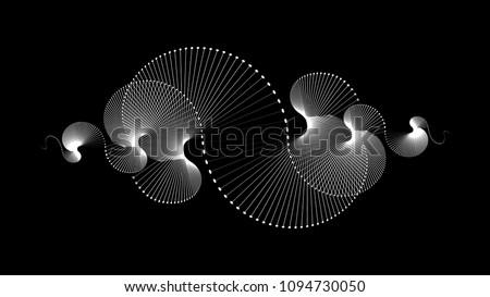 Spiral sound wave rhythm