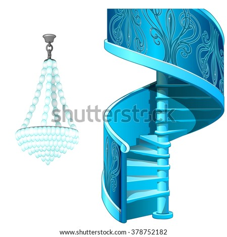 spiral staircase and crystal