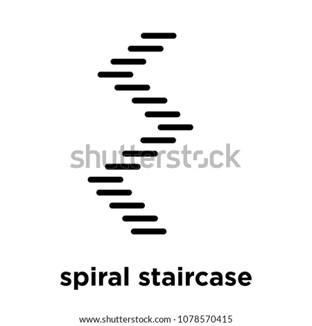 spiral staircase icon isolated on white background, vector illustration