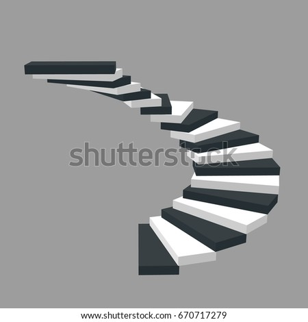 spiral staircase isolated on