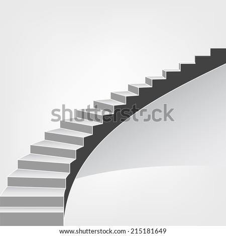 spiral staircase way up vector