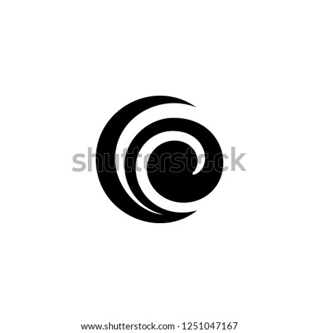 spiral vector icon. spiral sign on white background. spiral icon for web and app