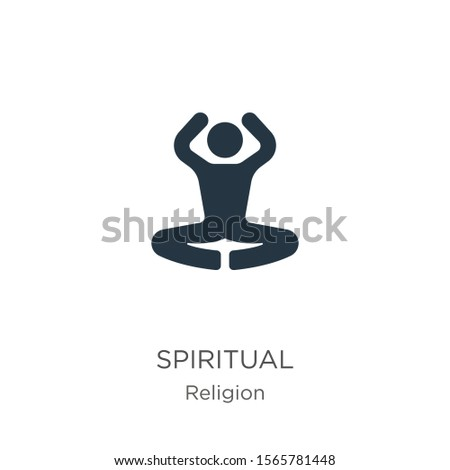 Spiritual icon vector. Trendy flat spiritual icon from religion collection isolated on white background. Vector illustration can be used for web and mobile graphic design, logo, eps10