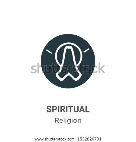 Spiritual vector icon on white background. Flat vector spiritual icon symbol sign from modern religion collection for mobile concept and web apps design.