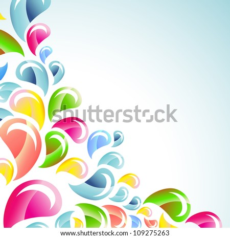 Splash colorful background,vector illustration