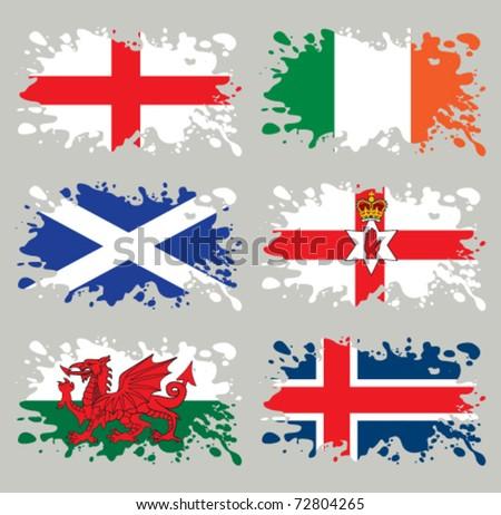splash flags set northern