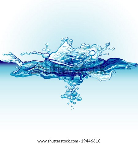 splash of drop in water - stock vector
