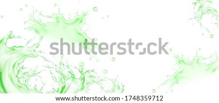 splash of green tea  lime or