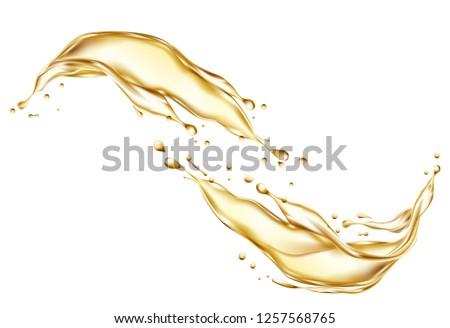 Splash of oil. Vector illustration