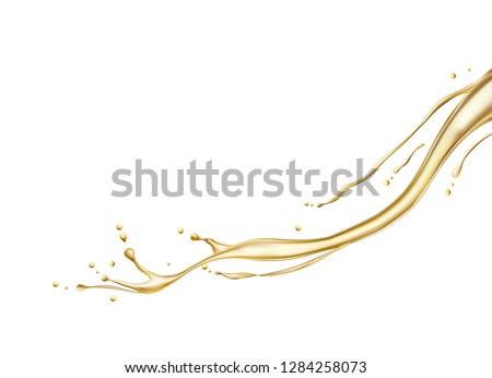 Splash of oil. Vector illustration #1284258073