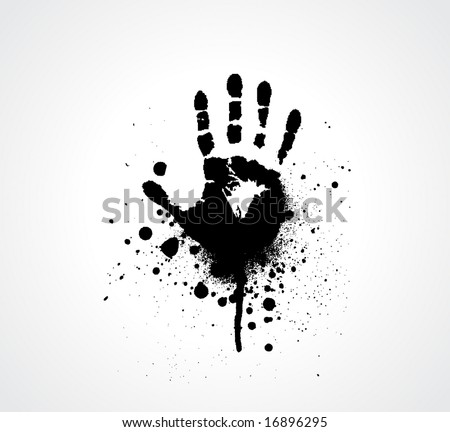 splashed Vector hand prints