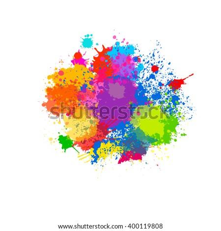 splatter color background and