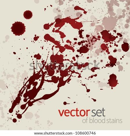 Splattered blood stains, set 11