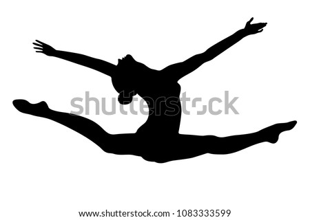 split leap exercise gymnast