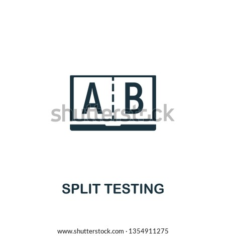 Split Testing icon. Creative element design from content icons collection. Pixel perfect Split Testing icon for web design, apps, software, print usage.