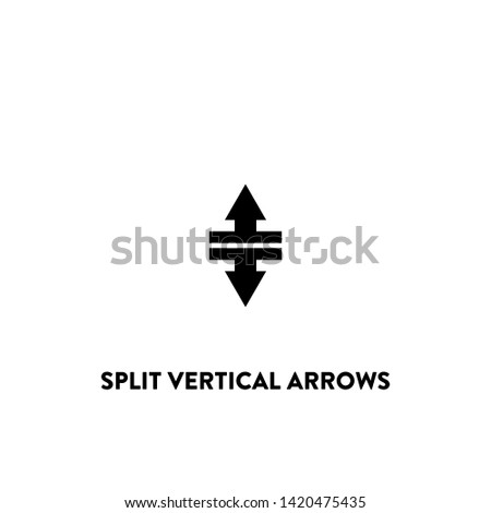 split vertical arrows icon vector. split vertical arrows sign on white background. split vertical arrows icon for web and app