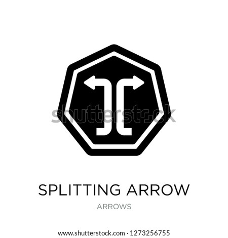 splitting arrow icon vector on white background, splitting arrow trendy filled icons from Arrows collection, splitting arrow simple element illustration