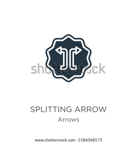 Splitting arrow icon vector. Trendy flat splitting arrow icon from arrows collection isolated on white background. Vector illustration can be used for web and mobile graphic design, logo, eps10
