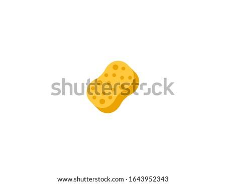 Sponge vector flat icon. Isolated sponge emoji illustration  Foto stock ©