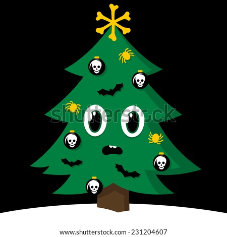 spooky cartoon vector christmas