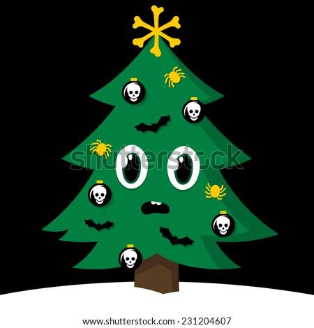 spooky cartoon vector christmas