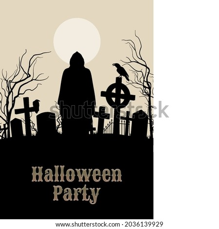 spooky graveyard on the