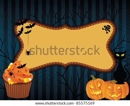 Spooky halloween background with banner.