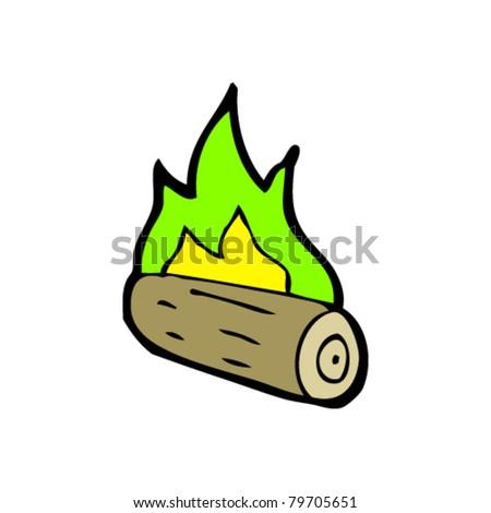 spooky halloween campfire cartoon