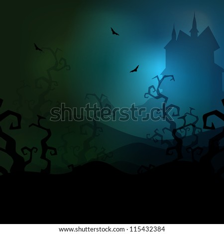 spooky halloween dark night