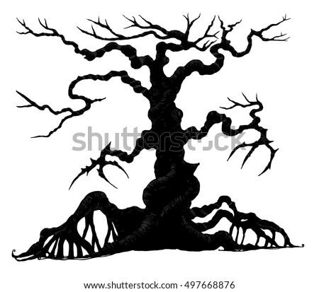 halloween tree download free vector art stock graphics images