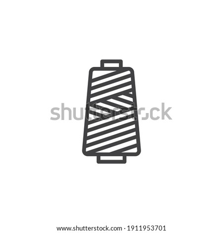 Spool of thread line icon. linear style sign for mobile concept and web design. Sewing cotton thread outline vector icon. Symbol, logo illustration. Vector graphics Foto stock ©