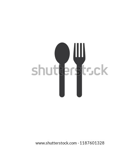 spoon and fork simple icon
