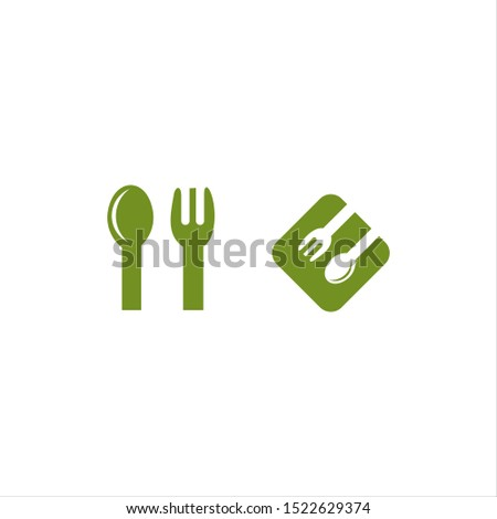 spoon and fork vector logo modern graphic modern