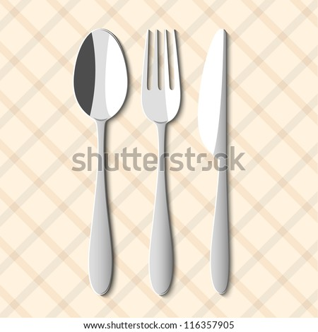 spoon fork and knife vector