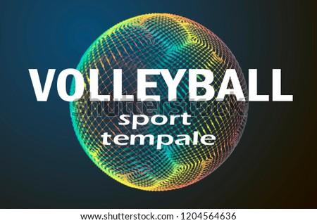 Spor event logo template. Valleyball logo illustration