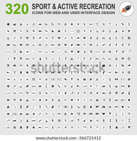 Sport and active recreation icons for web