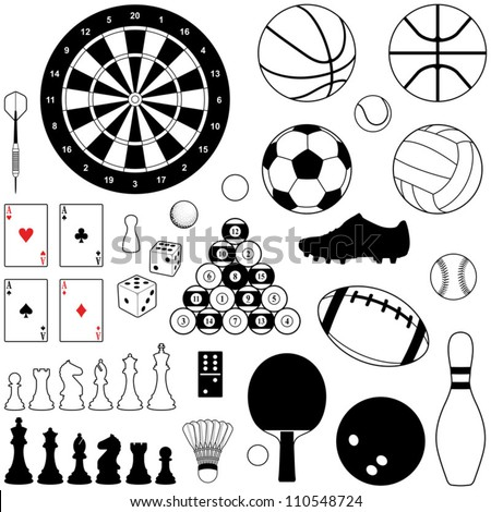Sport and Game collection - vector illustration