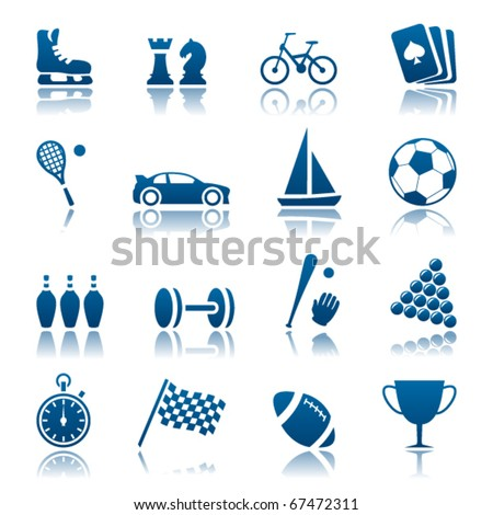 Sport and hobby icon set - stock vector