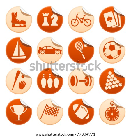 Sport and hobby stickers
