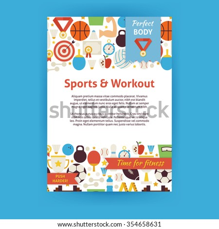 sport and workout invitation...