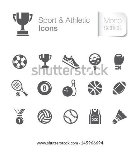 Sport &Amp; Athletic Related Icons.