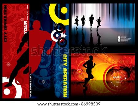 Sport background set