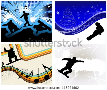 sport background set with